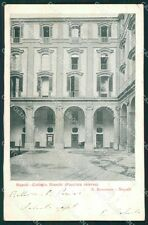 Napoli Città Collegio PIEGHINA cartolina XB0845