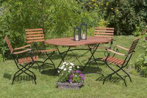 Gartenmobel Metall Holz ~ Sitzgruppe gartenmöbel gartengarnitur schlossgarten 5 teilig metall