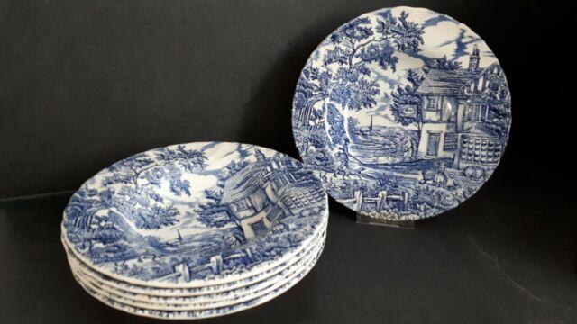 Englische Keramik STAFFORDSHIRE TABLEWARE OAKWOOD 1 Speiseteller //flacher Teller