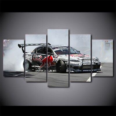 Mazda RX8 Sports Racing Car 5 Panel Canvas Print Wall Art