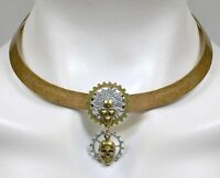 Gearhead Steampunk Collar Necklace | High-quality Etched Brass No Monet