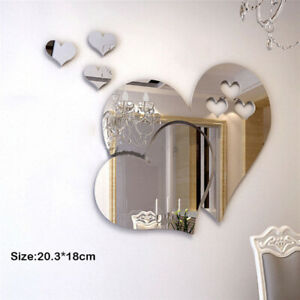 3D-Wall-Sticker-Mirror-Love-Hearts-Decal-DIY-Home-Room-Art-Mural-Decor-Removable