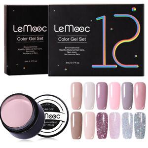 LEMOOC-5ml-12-Stueck-Nagel-Gellack-Soak-Off-UV-Gel-Nagellack-Nail-Art-Gel-Polish