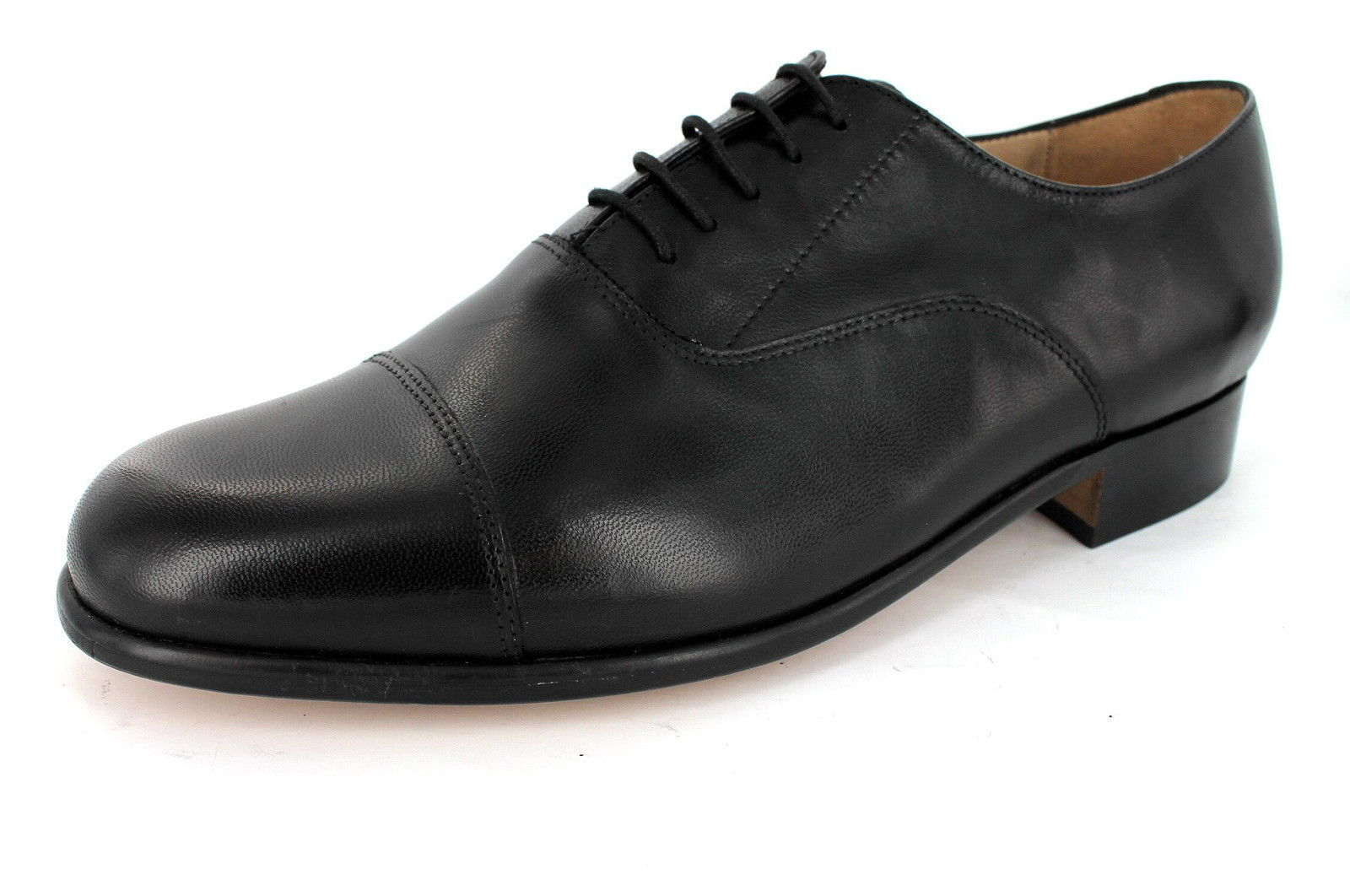 Thomas bluent 'Paddington 2' Gents Black Leather Bench Made Cap Toe Formal shoes