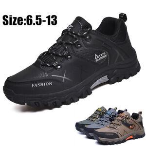 Para-Hombre-Botas-Para-Excursionismo-A-Prueba-De-Agua-De-Invierno-Cuero-Zapatos-De-Tobillo-De