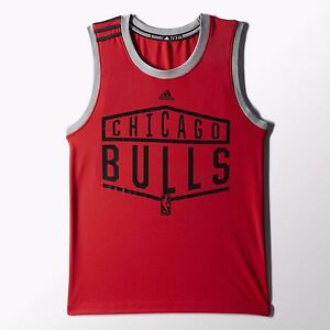 03c1f9c3a Youth Kids Chicago Bulls Tip-Off Tank Top T-Shirt Adidas NBA ...