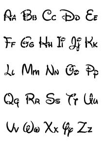 A4//A5//A6 Disney Numbers Stencil
