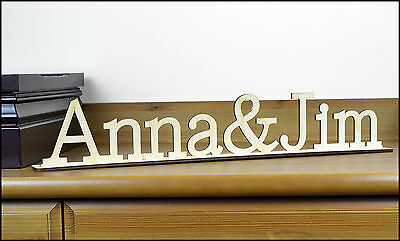 Personalized Wooden Sign / Free standing Home Decor / Housewares / Wedding Gift
