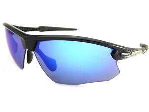 Blue Da Nero Volpe Con Lucido Occhiali Specchio Lenti Sole Sportivi A Bloc x84wqw
