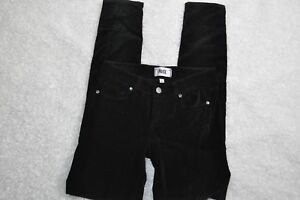 Paige-Verdugo-Ultra-Skinny-Pants-Black-Velvet-Five-Pocket-Womens-Size-23