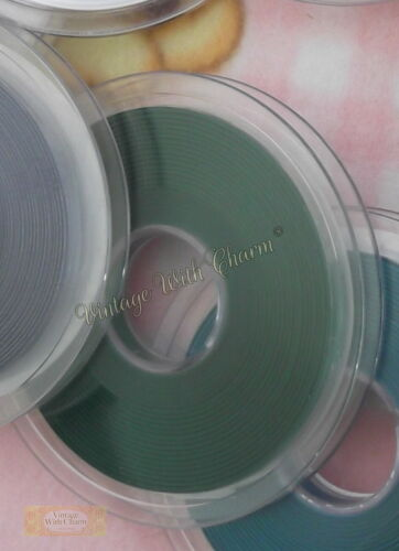 Various Vintage Colours For Clothing /& Craft 5mm Double Satin Ribbon x 20m Reel