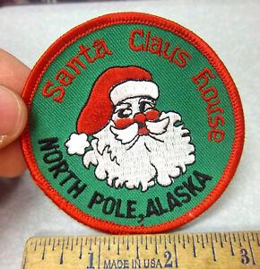 Santa-Claus-House-North-Pole-Alaska-Beautiful-Santa-Embroidered-Patch-Unique