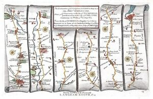 Antique-map-The-continuation-of-the-Road-from-London-to-Holy-Head-plate-023