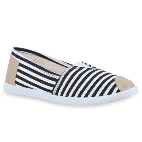Damen Slipper Slip-ons Prints Streifen Stoffschuhe Freizeit 814785 Schuhe
