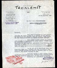 """PARIS (XVII°) ACCESSOIRES AUTOMOBILES pour AUTOMOBILE CITROEN """"TECALEMIT"""" en1928"""
