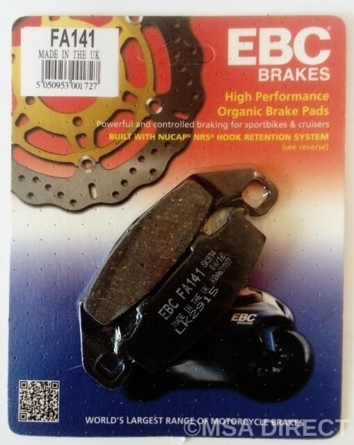 Kawasaki ZR 550 Zephyr (1991 to 1993) EBC Organic REAR Disc Brake Pads (FA141)