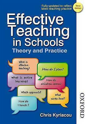 1 of 1 - Effective Teaching in Schools Theory and Practice by Chris Kyriacou (Paperback,