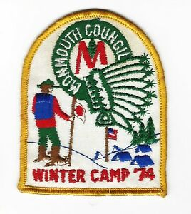 BOY SCOUT FORESTBURG S.R. 1974 WINTER CAMP MONMOUTH CNCL ...