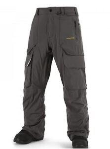 2016-NWT-MENS-VOLCOM-TD2-SNOWBOARD-PANTS-L-vintage-black-tricot-backing