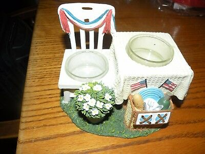 Yankee Candle Summer Living 4th Of July Double Tea Light Holder T/l #1310442 Collectibles July 4th