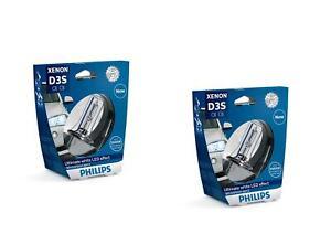 2x-Philips-D3S-WhiteVision-Xenon-Brenner-5000K-bis-zu-120-mehr-Sicht