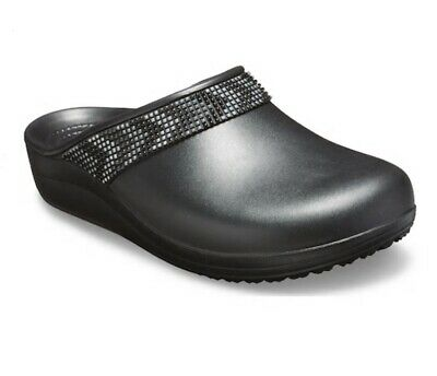 Crocs Sloane Diamante Lightweight Iconic Comfort Clogs Womens size 7