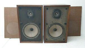 Vintage-UTAH-Standing-Floor-Speakers-10-034-Woofers-Tested-WORKS