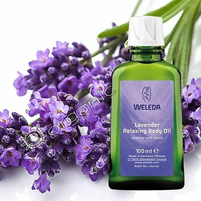 Weleda Organic Lavender Relaxing Body Oil for Dry Skin 100ml NEW SPECIAL PRICE