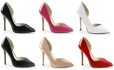 """PLEASER AMUSE 22 5"""" POINTED STILETTO HIGH HEEL COURT SHOES FASHION CLEARANCE"""