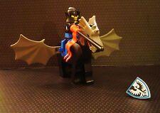 Vintage Custom Lego BLACK FALCON KNIGHT CHAMPION Winged Horse Pegasus Castle