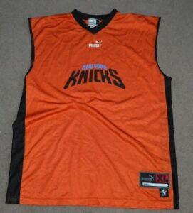 the latest c51a2 12401 Details about Vtg New York Knicks Puma Authentic Practice Jersey XL