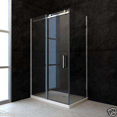 Duschkabine Dusche Duschabtrennung Duschwand Schiebetür 120x90 ESG Glas 8mm