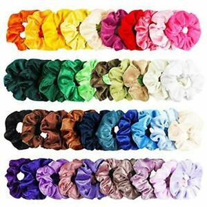 WATINC-40Pcs-Colorful-Velvet-Hair-Scrunchies-Set-Elastic-Bobble-For-Ponytail