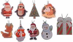 Novelty-Hanging-Christmas-Air-Fresheners-Santa-Gift-Snowman-etc-FREE-UK-P-amp-P