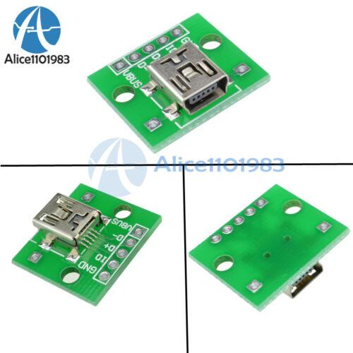 10pcs Mini USB to DIP Adapter Converter for 2.54mm PCB Board DIY Power Supply AL