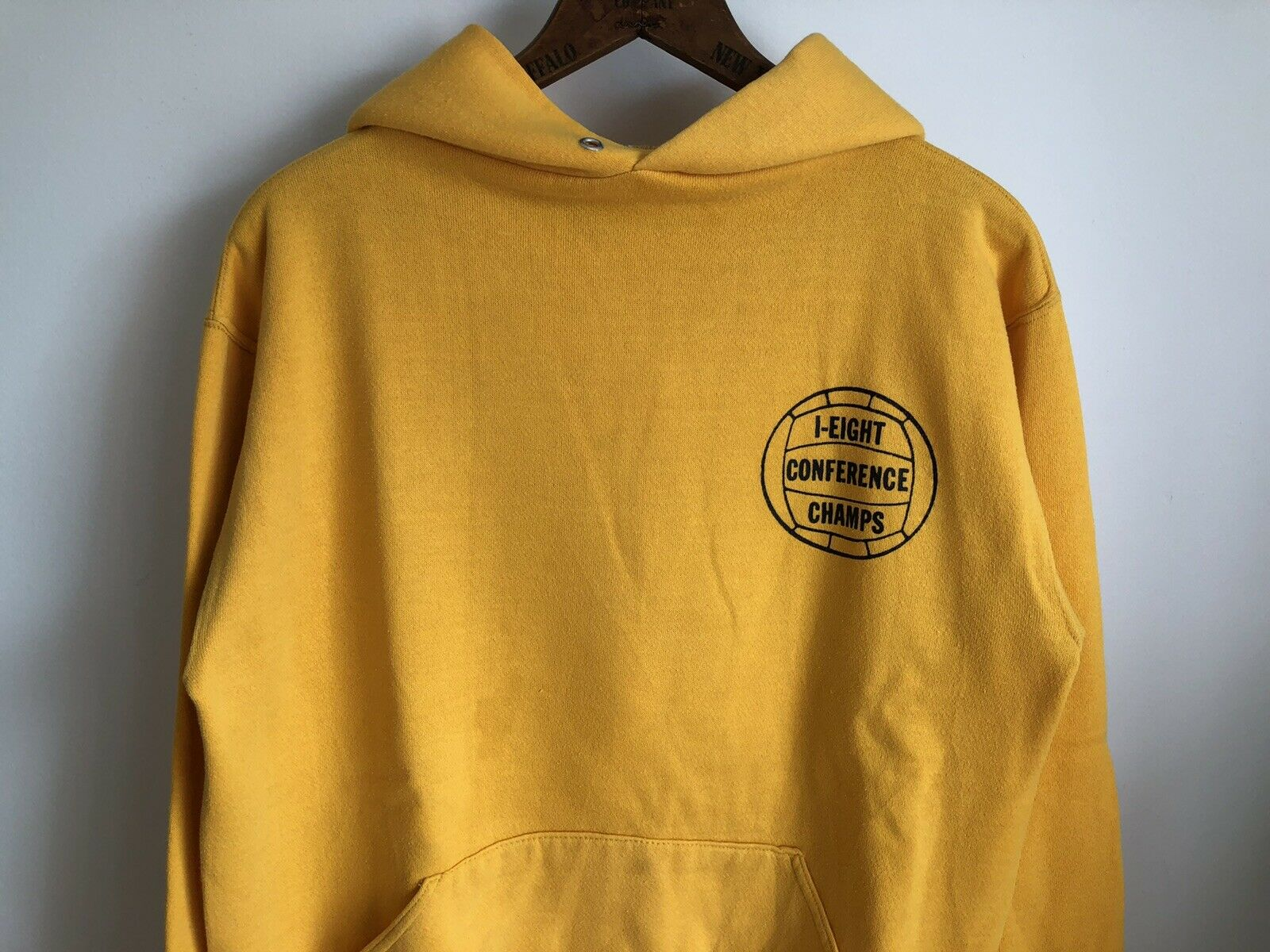 VTG 70s Russell Athletic Gold Yellow Hoodie Sweat… - image 2
