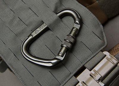 Mil Spec Monkey MSM Pear-S Screwlock Carabiner-Black-Dusty Brown-Ranger Green