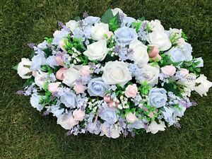 Large Wedding Flowers Top Table Arrangement White Baby Pink Baby Blue Gyp Ebay
