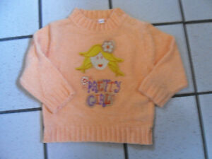 Baby-Pullover-orange-Groesse-74-80-Pretty-Girl-NEU