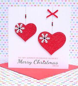 Personalised handmade christmas card husband wife boyfriend image is loading personalised handmade christmas card husband wife boyfriend girlfriend m4hsunfo