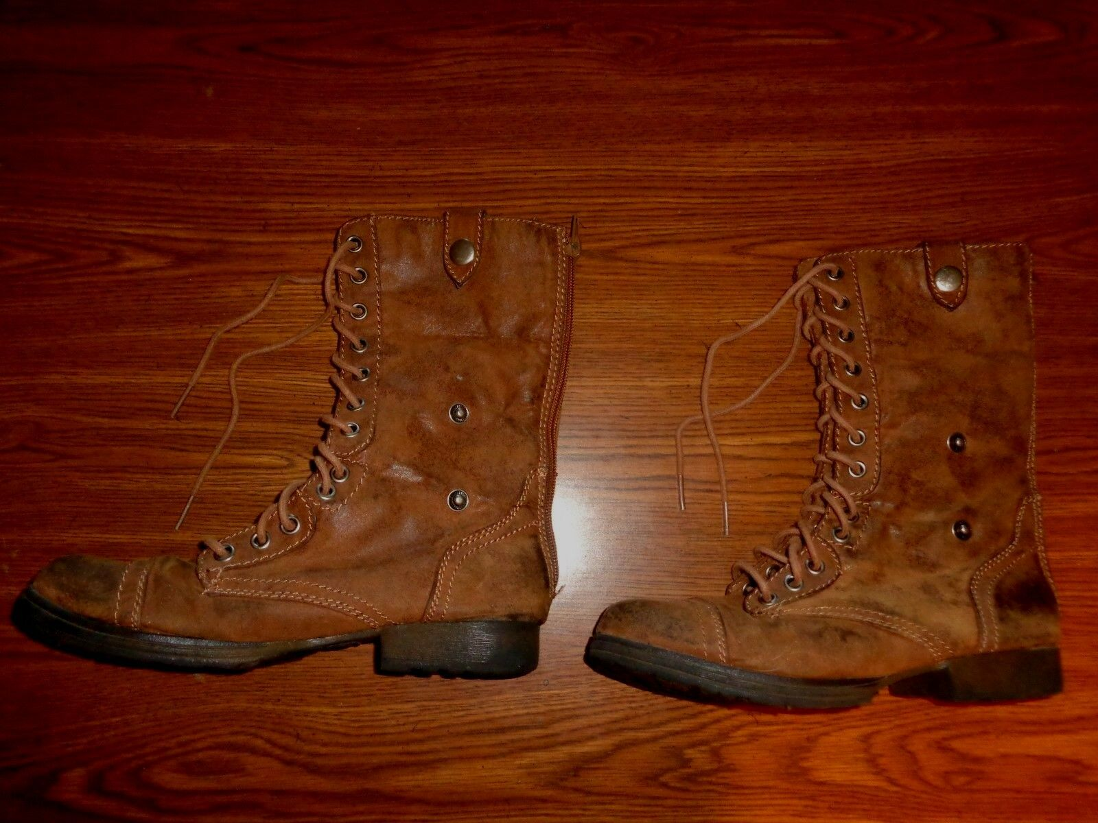 Bongo Lace Up, Zipper,Snaps  BOOTS WOMENS SIZE 6 M   TRACEY
