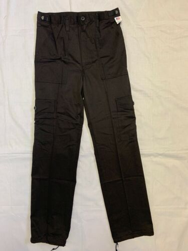 Black   Cargo Fatigue Pants Small  Made in USA Cotton//Poly New #07