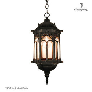 Matte black medieval style outdoor hanging porch light lantern matte black medieval style outdoor hanging porch light aloadofball Image collections