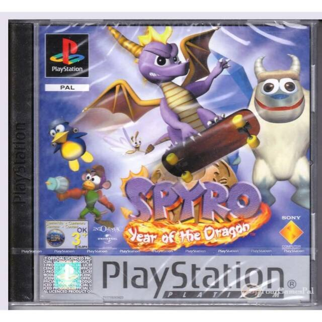 PLAYSTATION 1 SPYRO YEAR OF THE DRAGON PAL PS1 BRAND NEW FACTORY SEALED [BN]