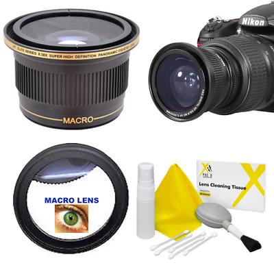 Lens Macro 58mm Nikon D610 10x High Definition 2 Element Close-Up