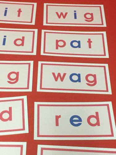 CVC WORD FAMILIES FLASH CARDS Pink Series Montessori 150 Cards