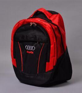 mode la plus désirable très loué super pas cher se compare à Details about AUDI sac à dos DE SPORT BAG voyage drapeau