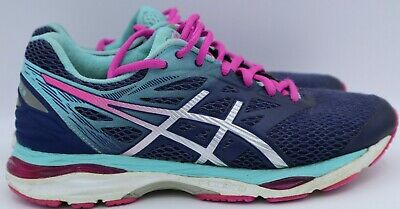 Asics Women S Gel Cumulus 18 Running Shoes Blue Silver Pink Glow T6c8n 7 38 Ebay