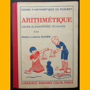 ARITHMETIQUE-Cours-elementaire-1ere-annee-par-Gaston-amp-Jeanne-Duhem-1938