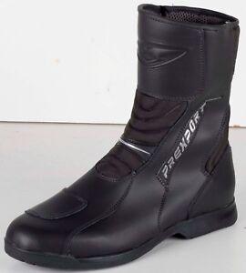 Prexport-Krios-Black-Leather-Waterproof-Motorcycle-Boots-New-RRP-109-99